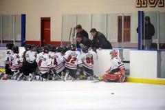 Хоккейная лига молодости стоковые фотографии rf