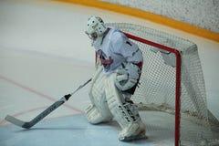 Хоккейные команды голкипера стоковые фотографии rf