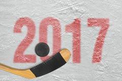 Хоккейный сезон в 2017 стоковое изображение