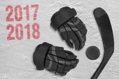 Хоккейный сезон 2017-2018 стоковые фотографии rf