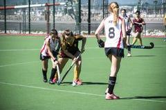 Хоккей Гибралтара - Grammarians HC против Малаги Испании Стоковая Фотография