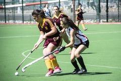 Хоккей Гибралтара - Grammarians HC против Малаги Испании Стоковая Фотография RF