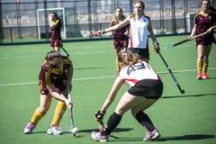 Хоккей Гибралтара - Grammarians HC против Малаги Испании Стоковое Фото