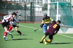 Хоккей Гибралтара - Grammarians HC против Малаги Испании Стоковые Фото