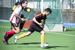 Хоккей Гибралтара - Grammarians HC против Малаги Испании Стоковые Изображения