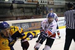 хоккей игры действия Стоковая Фотография