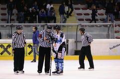 хоккей игры действия Стоковое фото RF