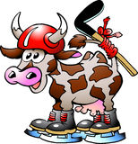 хоккей коровы играя спорт Стоковые Фото