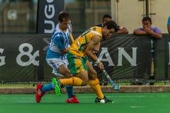 Хоккей международная Аргентина v Южная Африка Стоковое Изображение RF