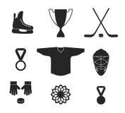 Хоккей на льде Комплект значка Стоковое Изображение RF