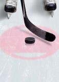 Хоккей на льде смотрит на пятно с космосом экземпляра Стоковое Фото