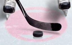 Хоккей на льде смотрит на пятно с космосом экземпляра Стоковая Фотография RF