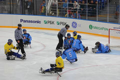 Хоккей розвальней Стоковые Фото