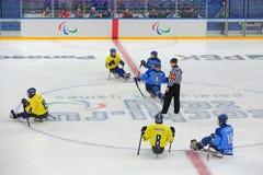 Хоккей розвальней Стоковые Изображения