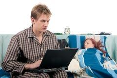 холить пар спальни Стоковые Фотографии RF