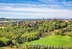 Холмистая зона Langhe, Пьемонт, Италия стоковая фотография rf