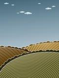 холмистый ландшафт иллюстрация штока