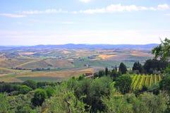 холмы Италия Тоскана Стоковые Изображения