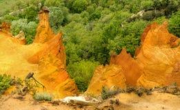 Холмы охры в Колорадо провансальском Стоковые Изображения