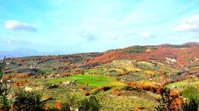 Холмы панорама Assisi, Италия стоковая фотография rf