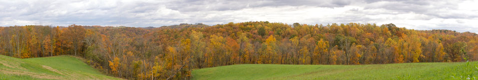 Холмы панорамы West Virginia стоковая фотография rf