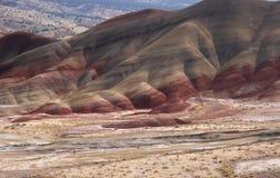 холмы покрашенные золой вулканические Стоковое фото RF