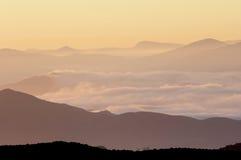 холмы померанцовые Стоковое Изображение RF