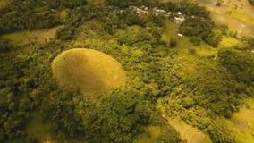 Холмы шоколада в Bohol, Филиппинах, виде с воздуха Стоковое Изображение RF
