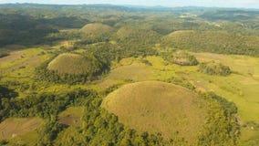 Холмы шоколада в Bohol, Филиппинах, виде с воздуха Стоковое Изображение