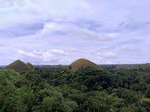 Холмы шоколада Bohol стоковые изображения rf