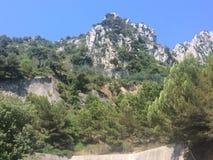 Холмы Alpille, Провансаль, Франция Стоковое Фото
