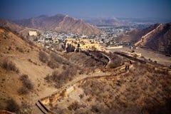 холмы jaipur Стоковая Фотография RF