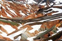 холмы landmannalaugar Стоковое Изображение RF