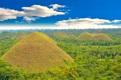 холмы philippines шоколада стоковые фотографии rf