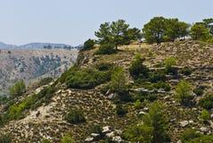 холмы rhodes Стоковые Изображения RF