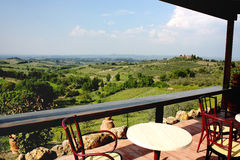холмы siena tuscan Стоковая Фотография