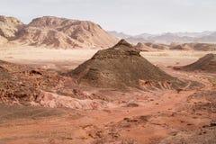 Холм в сухом ландшафте пустыня Негев, Израиль Стоковая Фотография RF