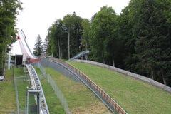 Холм летания лыжи Оберстдорфа Оберстдорфа стоковые изображения rf