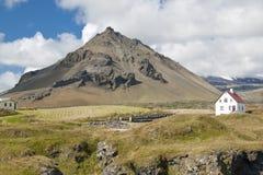 холм ноги фермы вулканический Стоковое Изображение