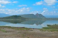 Холм ратника спать в озере Elementaita, Кении Стоковая Фотография RF