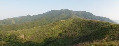 Холм стороны страны Гонконга в новых территориях Гонконга стоковая фотография rf
