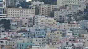 Холм телеграфа Сан-Франциско акции видеоматериалы