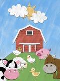 холм фермы животных Стоковые Фотографии RF