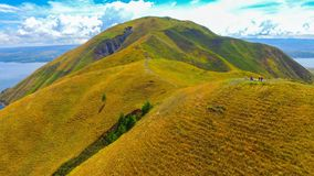Холм Holbung, озеро Toba стоковое изображение