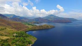 Холм Holbung, озеро Toba стоковое фото rf