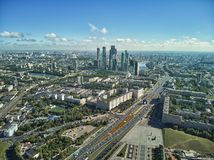 Холм Poklonnaya в Москве, России, воздушном взгляде трутня стоковое изображение