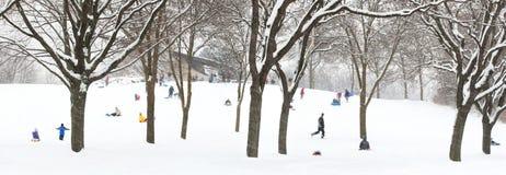 холм sledding Стоковая Фотография RF