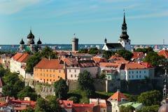 Холм Toompea в городке Таллина старом, Эстонии Стоковая Фотография RF