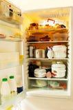 холодильник открытый Стоковое Изображение