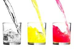 холодная вода сока Стоковая Фотография